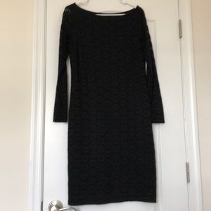 Long sleeve black maternity dress size small